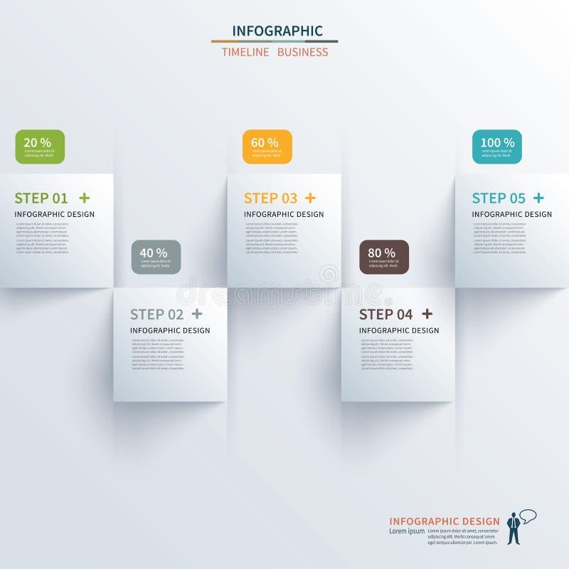 Τετραγωνική υπόδειξη ως προς το χρόνο εγγράφου infographic ελεύθερη απεικόνιση δικαιώματος