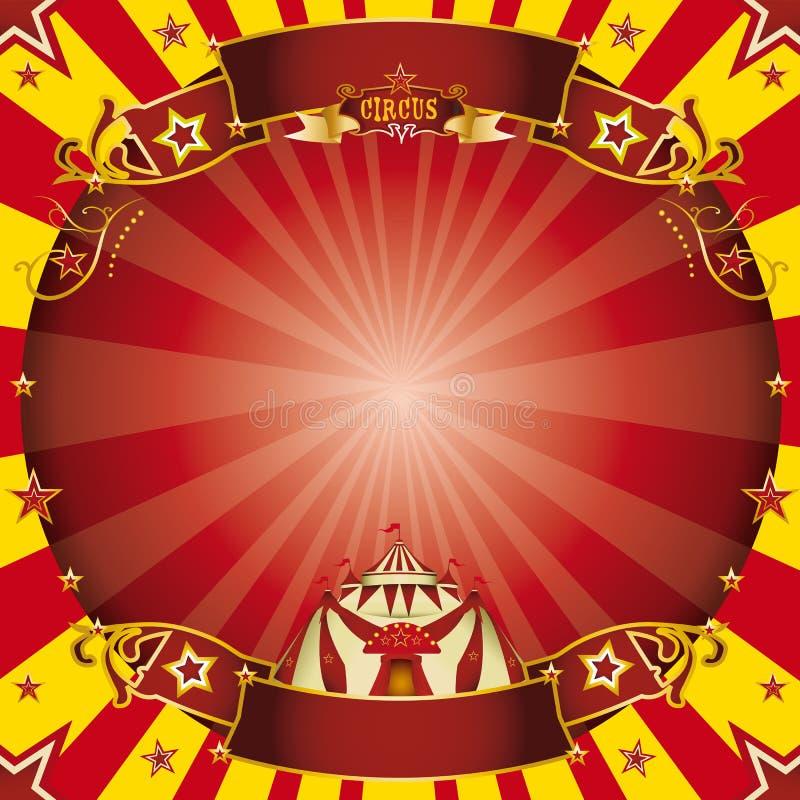 Τετραγωνικοί κόκκινος τσίρκων και κίτρινος στοκ φωτογραφία με δικαίωμα ελεύθερης χρήσης