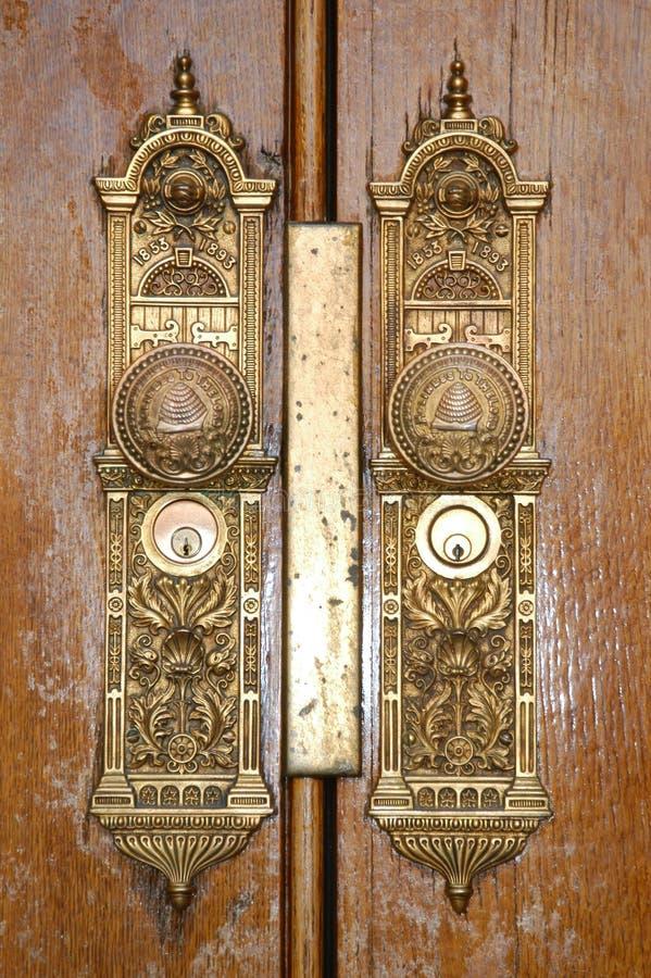 τετραγωνικός ναός πορτών lockdetail στοκ φωτογραφία με δικαίωμα ελεύθερης χρήσης