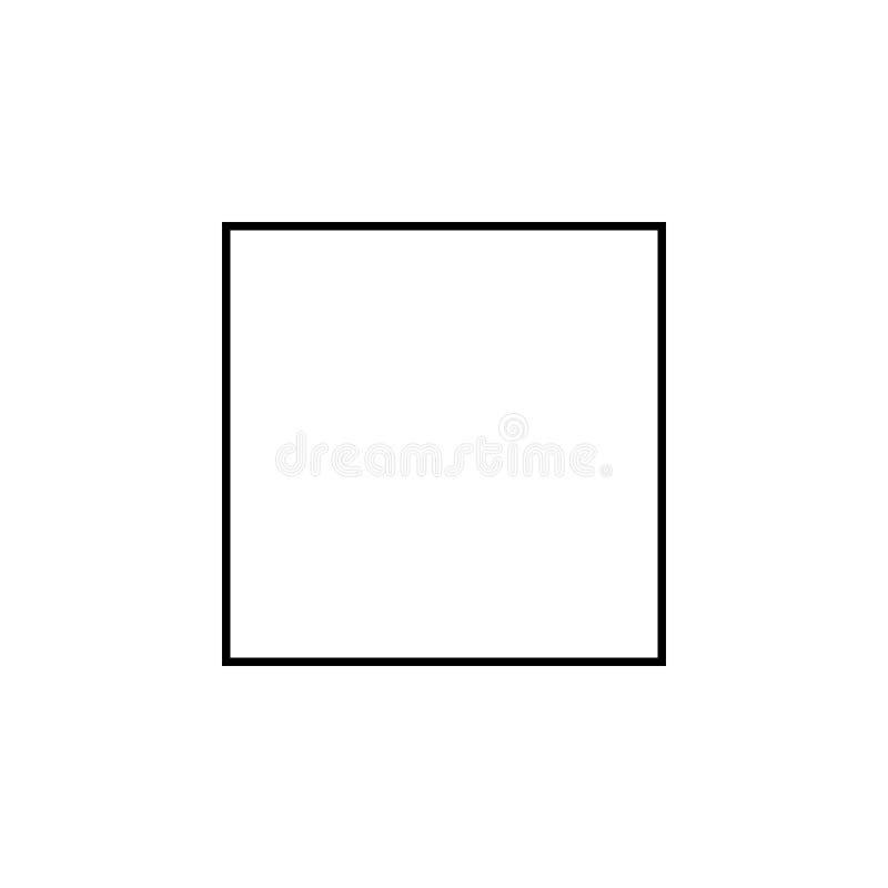Τετραγωνικό εικονίδιο Γεωμετρικό στοιχείο αριθμού για την κινητούς έννοια και τον Ιστό apps Λεπτό εικονίδιο γραμμών για το σχέδιο ελεύθερη απεικόνιση δικαιώματος
