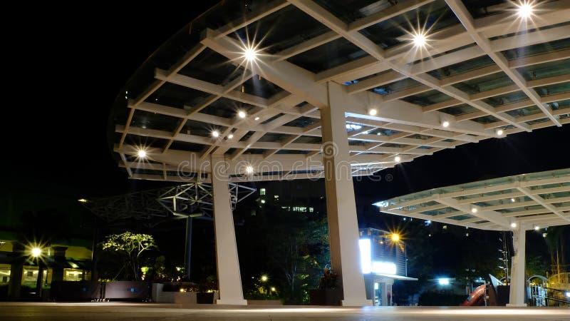 Τετραγωνικό κτήριο αρχιτεκτονικής στο Stanley στοκ φωτογραφία