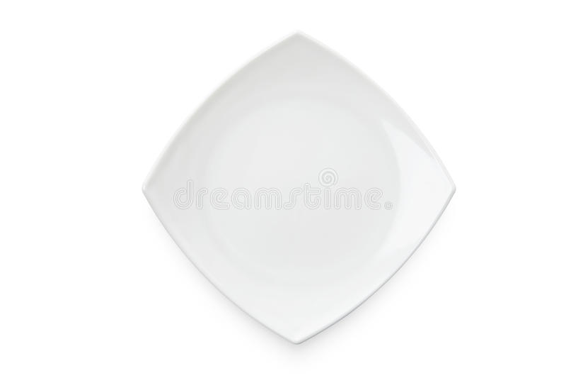 τετραγωνικό λευκό πιάτων στοκ εικόνες