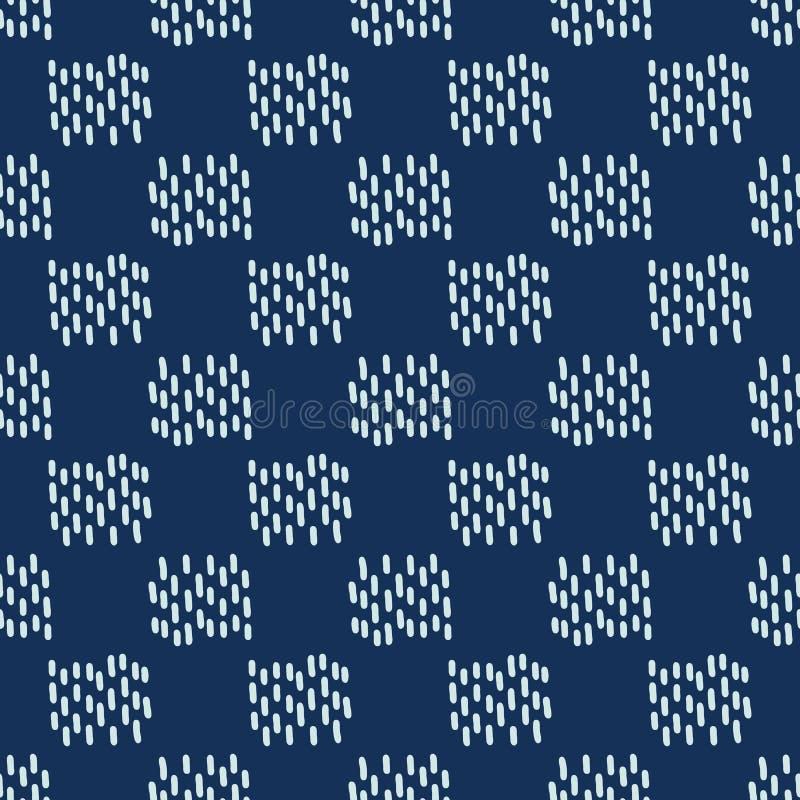 Τετραγωνικό μοτίβου Sashiko άνευ ραφής διανυσματικό σχέδιο ραπτικής ύφους ιαπωνικό απεικόνιση αποθεμάτων