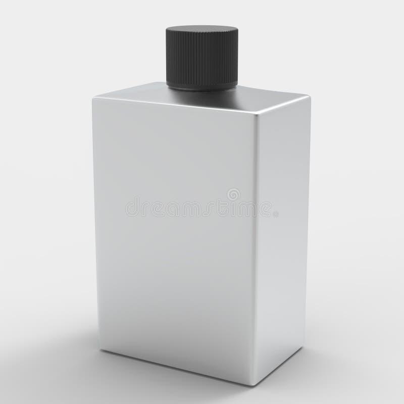 Τετραγωνικό μπουκάλι αργιλίου στοκ εικόνα με δικαίωμα ελεύθερης χρήσης
