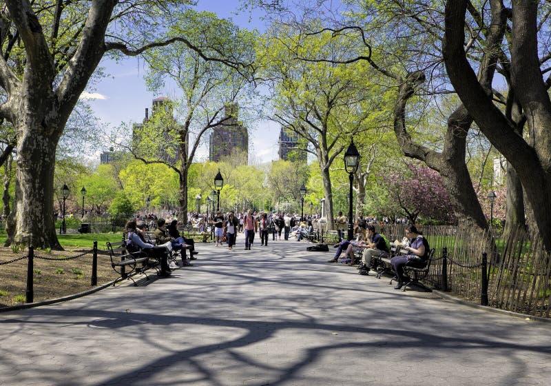 Τετραγωνικό πάρκο της Ουάσιγκτον, Νέα Υόρκη στοκ φωτογραφία με δικαίωμα ελεύθερης χρήσης