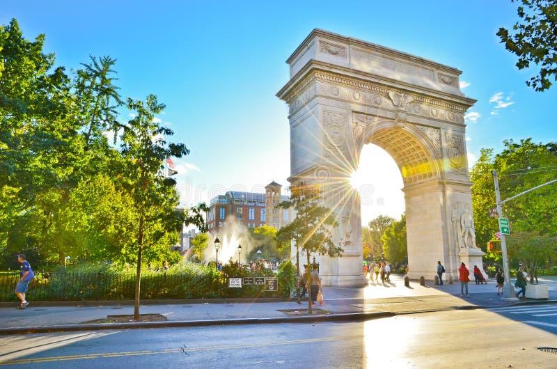 Τετραγωνικό πάρκο της Ουάσιγκτον στην πόλη της Νέας Υόρκης στοκ εικόνες με δικαίωμα ελεύθερης χρήσης
