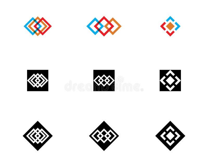 τετραγωνικό πρότυπο σχεδίου απεικόνισης εικονιδίων διανυσματικό απεικόνιση αποθεμάτων