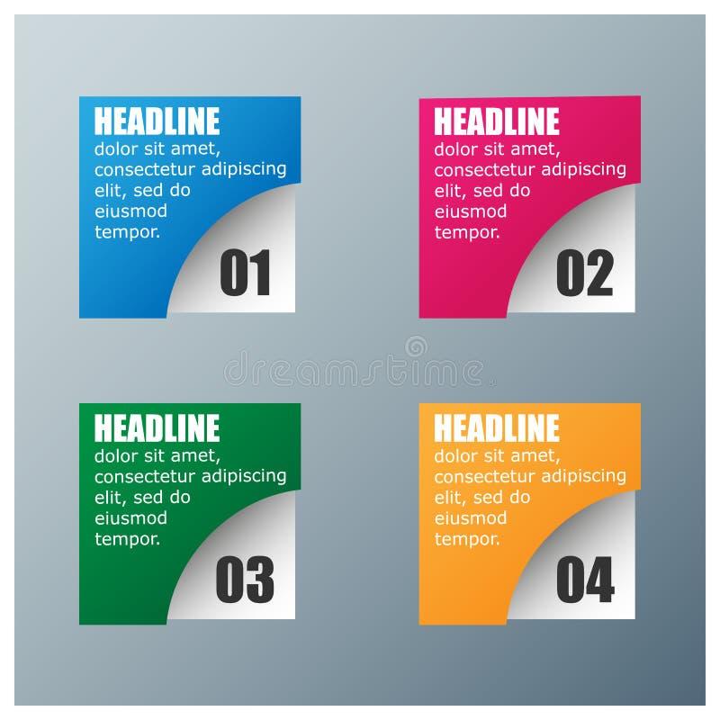Τετραγωνικό πρότυπο σχεδίου Infographic ελεύθερη απεικόνιση δικαιώματος