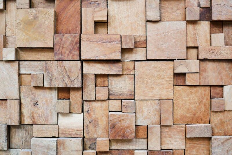 Τετραγωνικό σύγχρονο διακοσμημένο ξύλινο υπόβαθρο στοκ φωτογραφίες