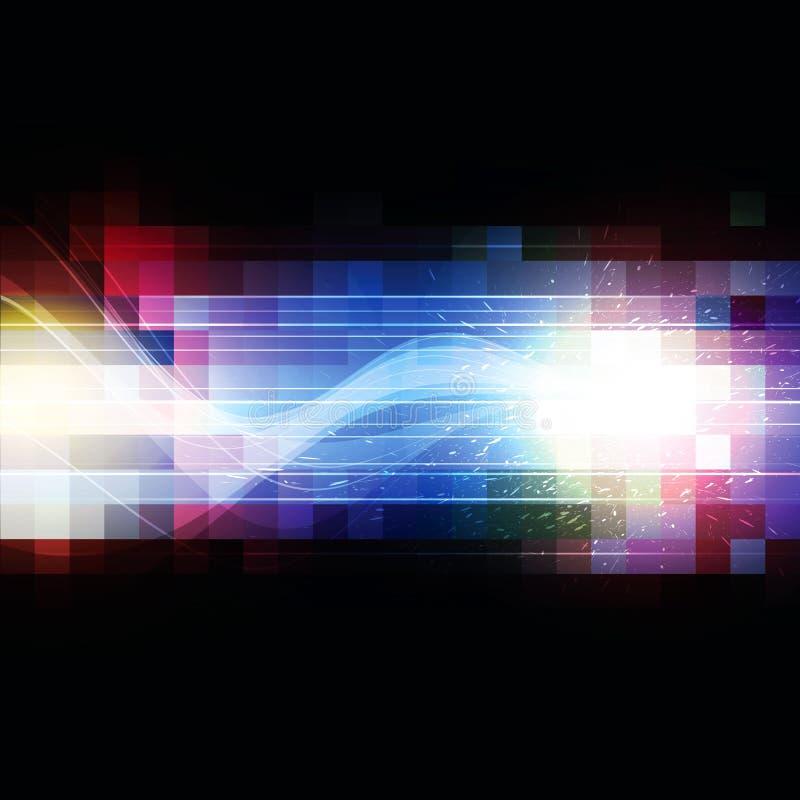 Τετραγωνικό υπόβαθρο εικονοκυττάρου χρώματος ελεύθερη απεικόνιση δικαιώματος