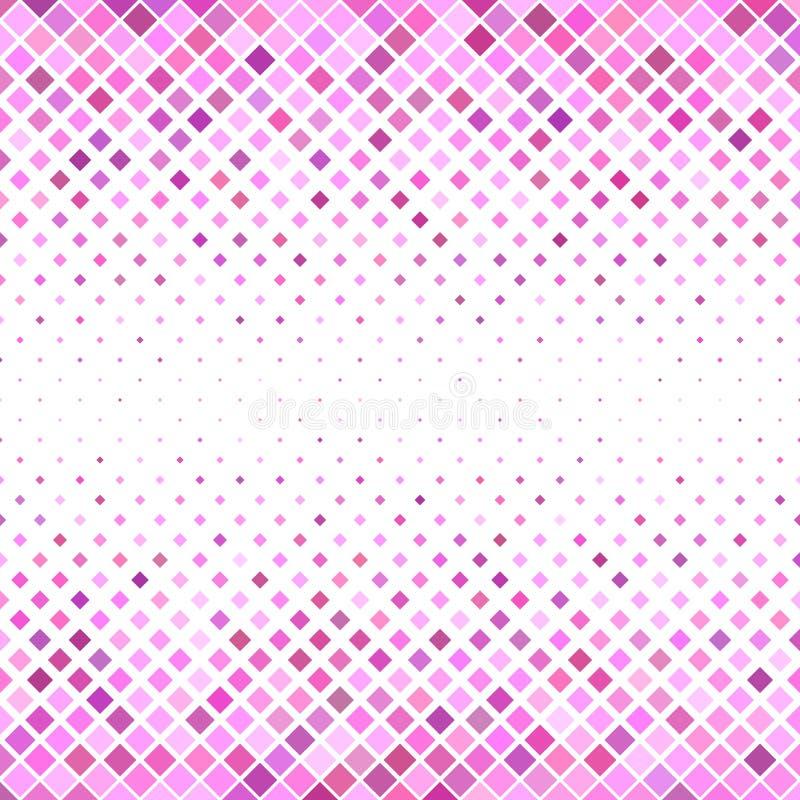 Τετραγωνικό υπόβαθρο σχεδίων - γεωμετρικός διανυσματικός γραφικός από τα διαγώνια τετράγωνα στους ρόδινους τόνους απεικόνιση αποθεμάτων