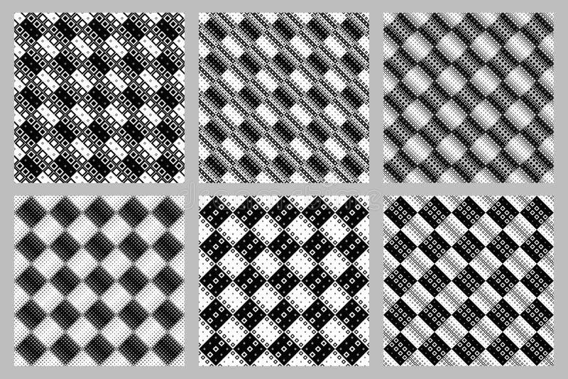 Τετραγωνικό υπόβαθρο σχεδίων καθορισμένο - αφηρημένος διανυσματικός γραφικός απεικόνιση αποθεμάτων