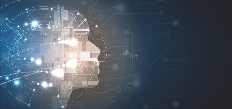 τεχνητή νοημοσύνη Υπόβαθρο Ιστού τεχνολογίας Εικονικός συμπυκνωμένος ελεύθερη απεικόνιση δικαιώματος
