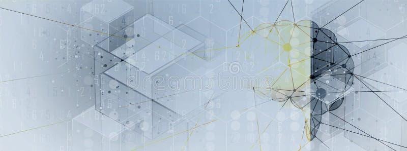 τεχνητή νοημοσύνη Υπόβαθρο Ιστού τεχνολογίας Εικονικός συμπυκνωμένος διανυσματική απεικόνιση