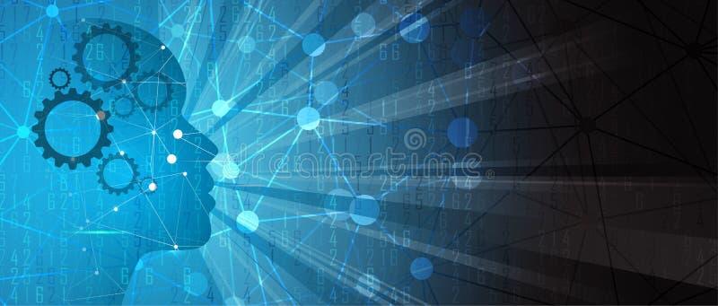 τεχνητή νοημοσύνη Υπόβαθρο Ιστού τεχνολογίας Εικονικός συμπυκνωμένος απεικόνιση αποθεμάτων