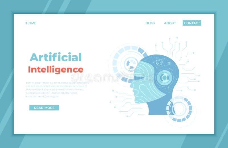 Τεχνητή νοημοσύνη AI, μελλοντική τεχνολογία, ψηφιακός εγκέφαλος, μηχανή που μαθαίνει, ανάσυρση δεδομένων Κεφάλι ρομπότ με ένα ανθ ελεύθερη απεικόνιση δικαιώματος