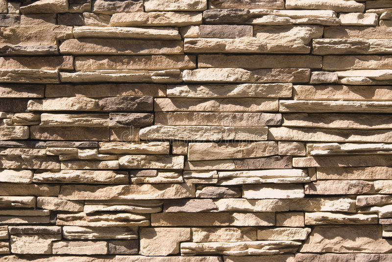 τεχνητός τοίχος πετρών στοκ φωτογραφίες με δικαίωμα ελεύθερης χρήσης