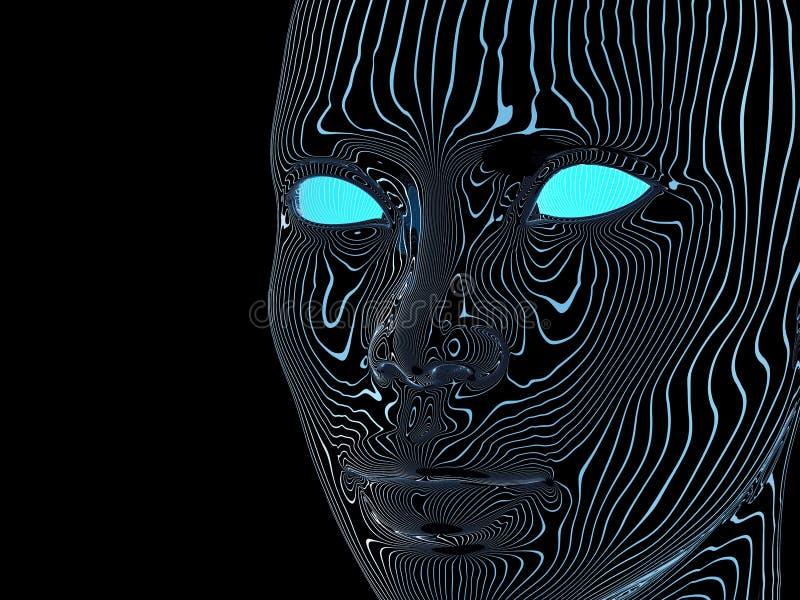Τεχνητό μυαλό ελεύθερη απεικόνιση δικαιώματος