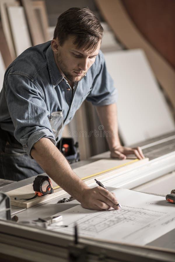Τεχνικά σχέδια οικοδόμησης αρχιτεκτόνων μεταβαλλόμενα στοκ εικόνες