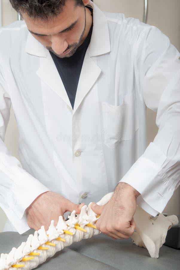Τεχνικές χειρωνακτικής, φυσιο και θεραπείας kinesio στοκ εικόνα με δικαίωμα ελεύθερης χρήσης