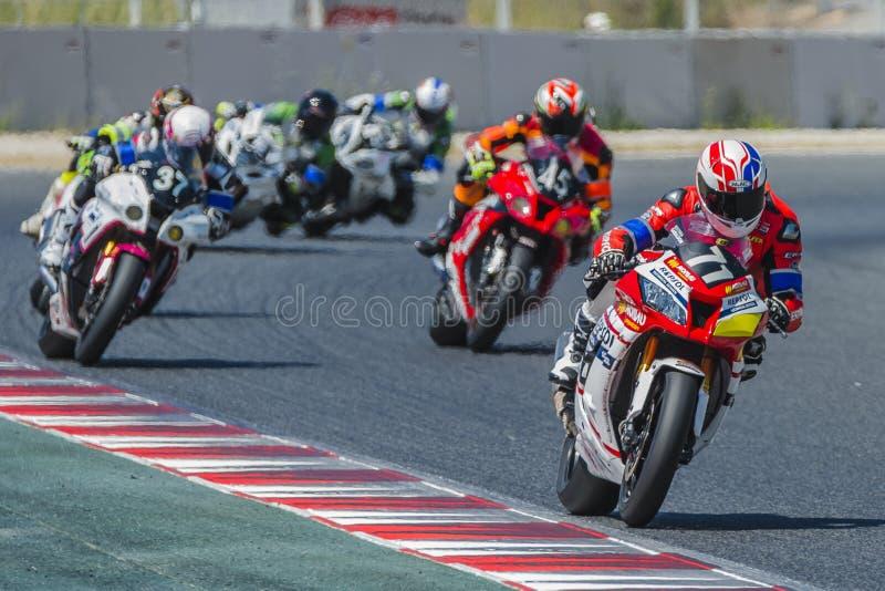 Τεχνικό σχολείο 2 Repsol Monlau ομάδα 24 ώρες Motorcycling Catalunya στοκ φωτογραφίες με δικαίωμα ελεύθερης χρήσης