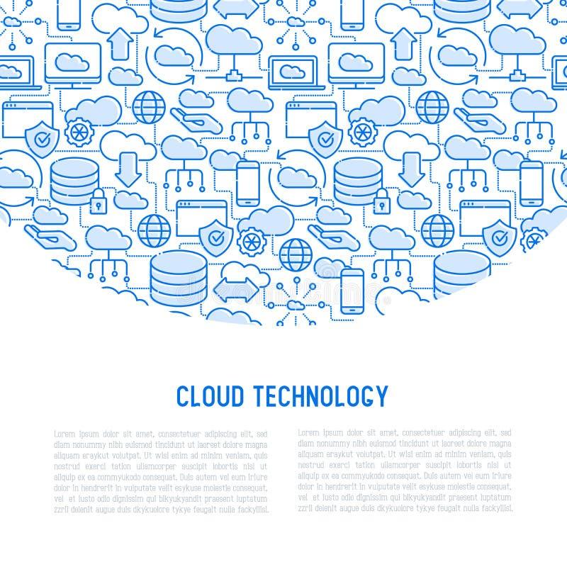 τεχνολογία έννοιας υπο&la διανυσματική απεικόνιση