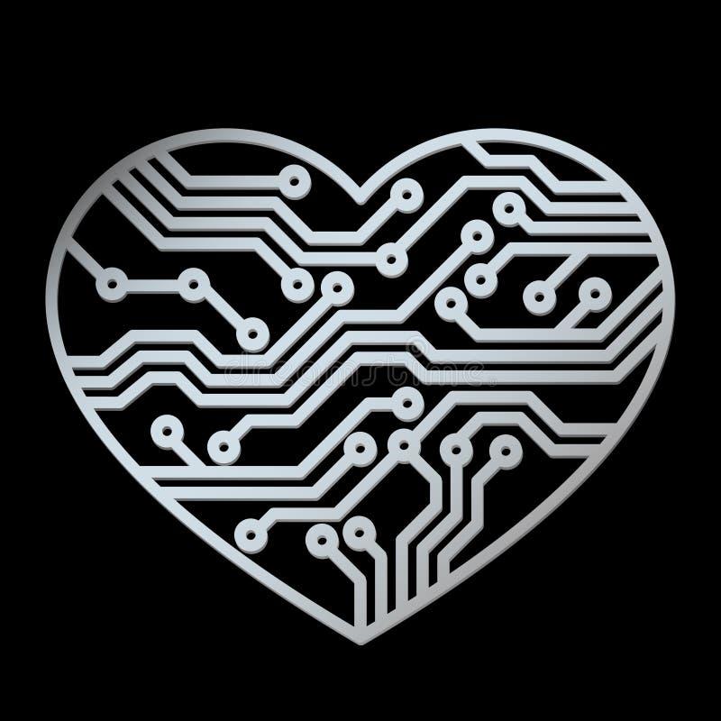 τεχνολογία αγάπης διανυσματική απεικόνιση