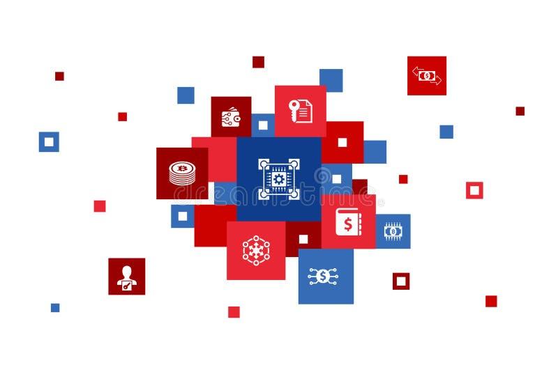 Τεχνολογία αλυσίδας εφοδιασμού Infographic 10 απεικόνιση αποθεμάτων