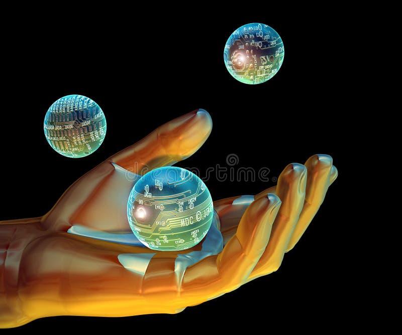 τεχνολογία εκμετάλλε&upsi διανυσματική απεικόνιση