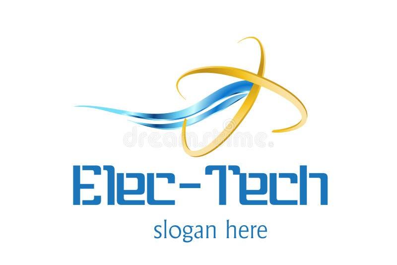 τεχνολογία λογότυπων σ&ch διανυσματική απεικόνιση