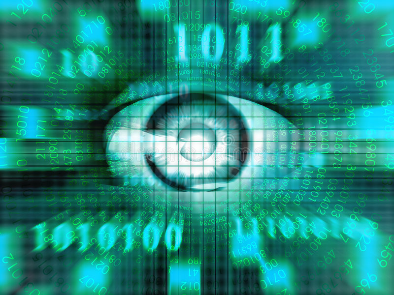τεχνολογία ματιών ελεύθερη απεικόνιση δικαιώματος