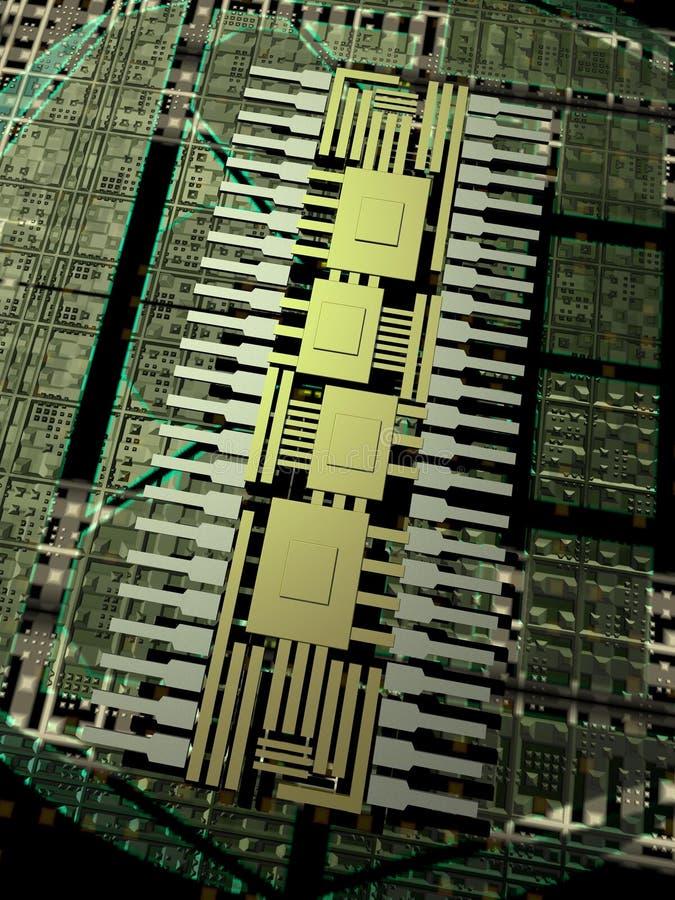 τεχνολογία μικροτσίπ διανυσματική απεικόνιση
