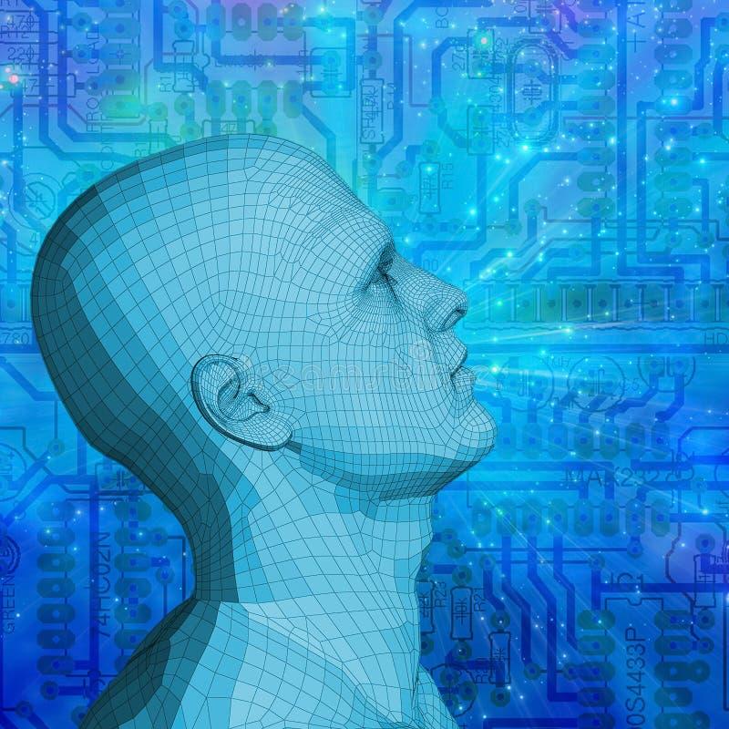 Τεχνολογία μυαλού ελεύθερη απεικόνιση δικαιώματος