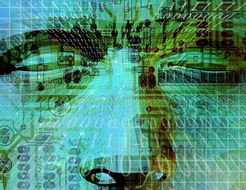 τεχνολογία μυαλού απεικόνιση αποθεμάτων