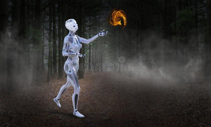Τεχνολογία ρομπότ, Futire, μηχανή, τεχνητή νοημοσύνη στοκ εικόνες