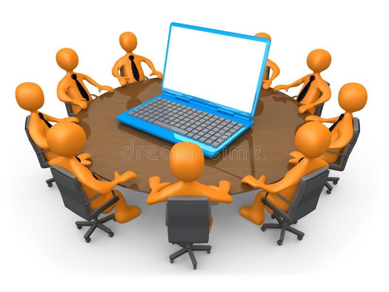 τεχνολογία συνεδρίαση&sig διανυσματική απεικόνιση