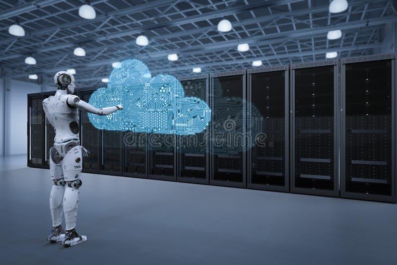 Τεχνολογία υπολογισμού σύννεφων διανυσματική απεικόνιση