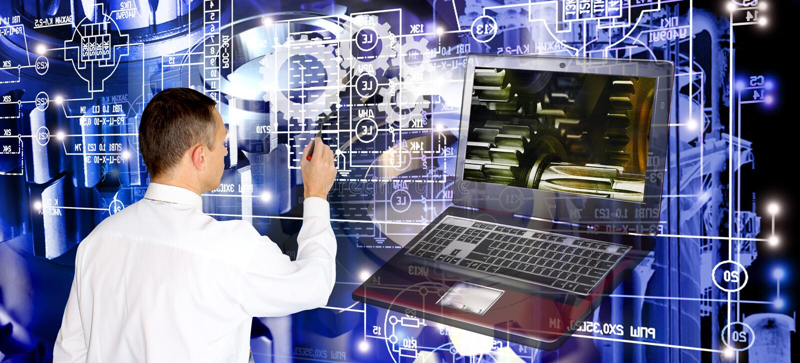 Τεχνολογία υπολογιστών κατασκευής εφαρμοσμένης μηχανικής στοκ φωτογραφία
