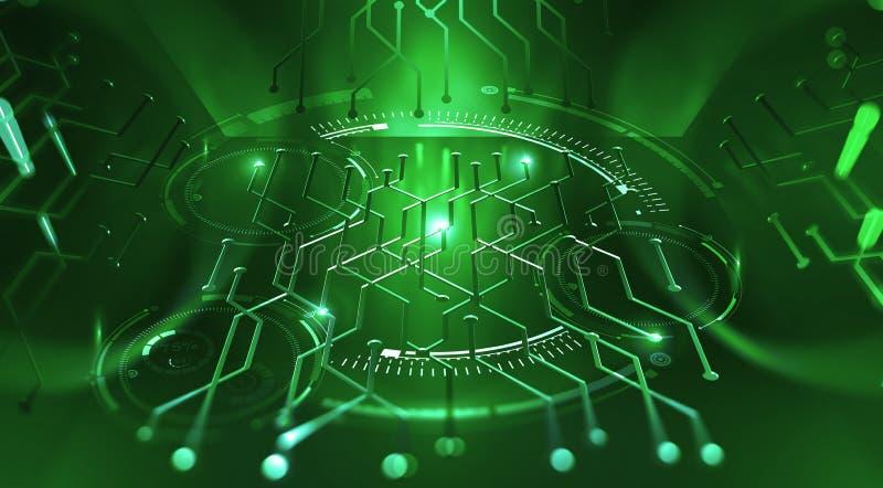 Τεχνολογία υπολογιστών του μέλλοντος Κβαντικός επεξεργαστής μικροτσίπ ελεύθερη απεικόνιση δικαιώματος