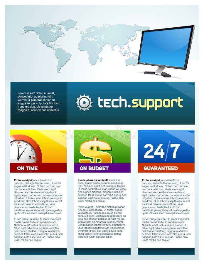 τεχνολογία υποστήριξης φυλλάδιων διανυσματική απεικόνιση