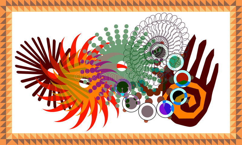 τεχνολογία mandala απεικόνιση αποθεμάτων