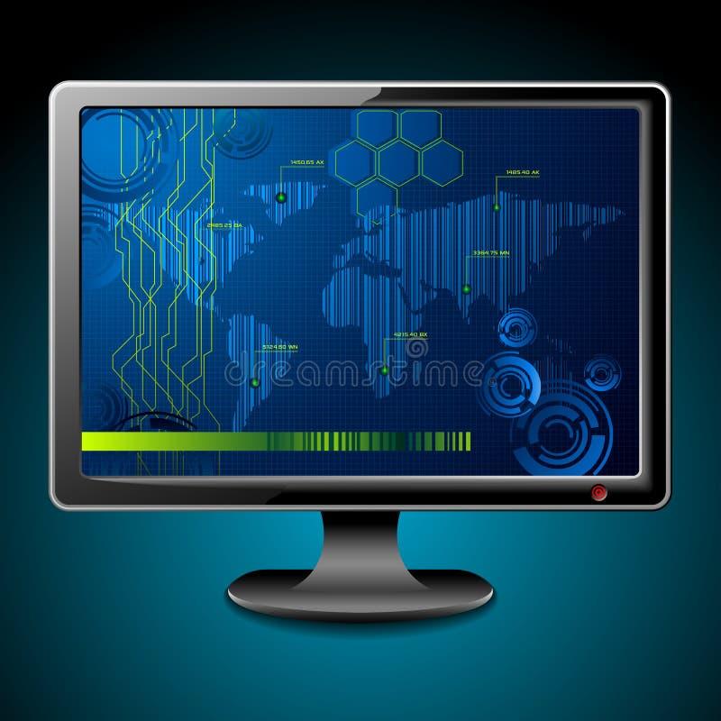 τεχνολογική τηλεόραση διανυσματική απεικόνιση