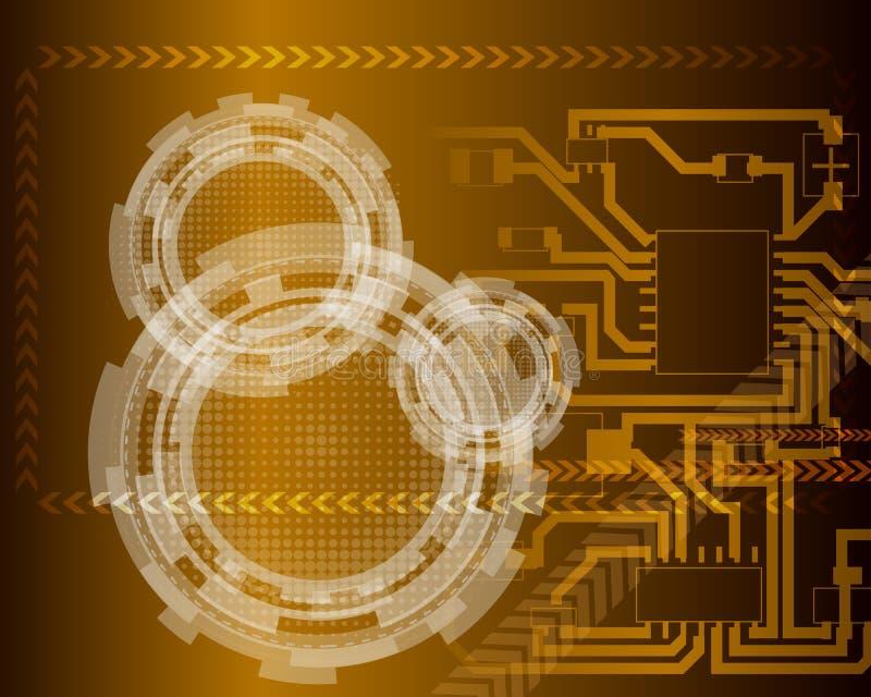 Τεχνολογικός φουτουριστικός ελεύθερη απεικόνιση δικαιώματος
