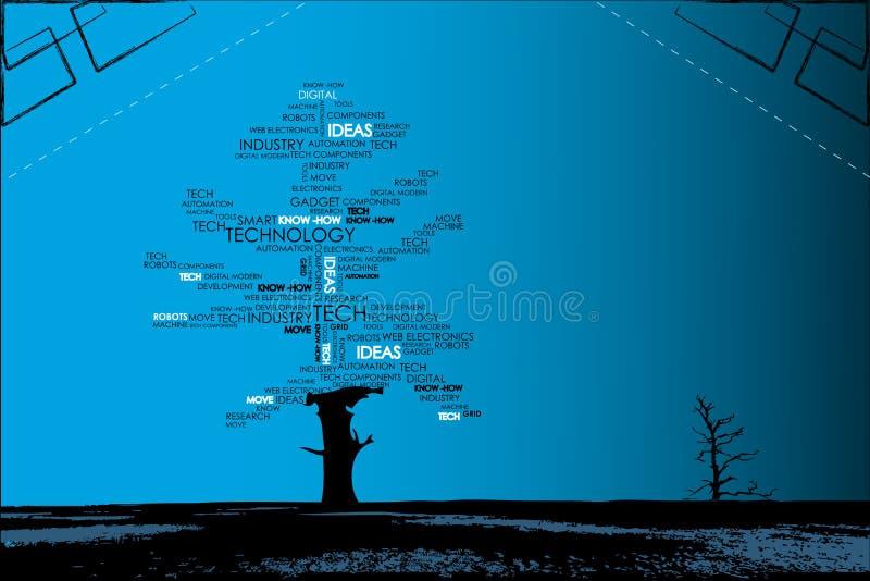 τεχνολογικό δέντρο ελεύθερη απεικόνιση δικαιώματος