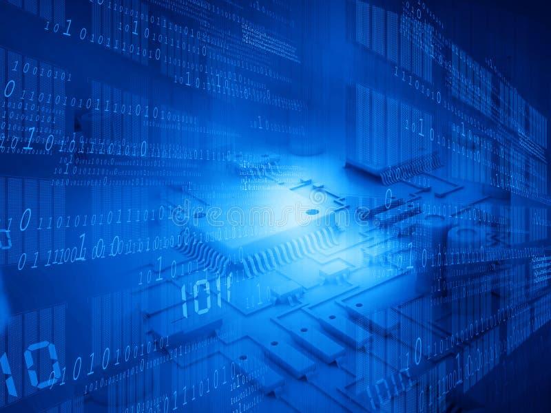 Τεχνολογικό υπόβαθρο υψηλής τεχνολογίας ελεύθερη απεικόνιση δικαιώματος