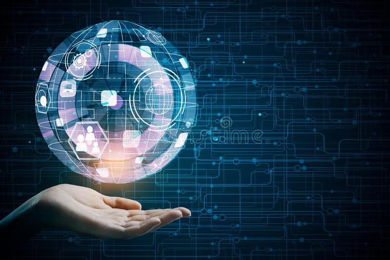 Τεχνολογία, μέλλον και διεπαφή στοκ φωτογραφία