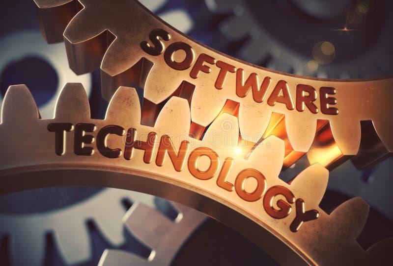 Τεχνολογία λογισμικού στα χρυσά εργαλεία βαραίνω τρισδιάστατη απεικόνιση διανυσματική απεικόνιση