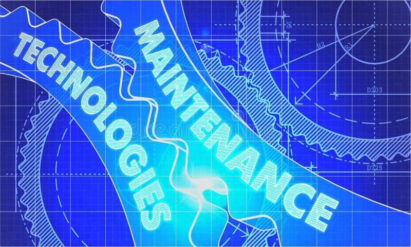 Τεχνολογίες συντήρησης Cogwheels διανυσματική απεικόνιση