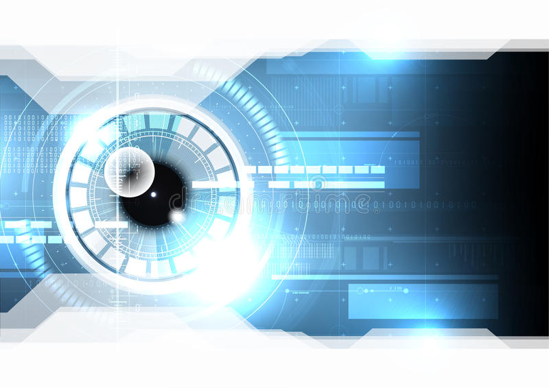 Τεχνολογικός προσδιορισμός β ασφάλειας επίδειξης ανίχνευσης ματιών hud διανυσματική απεικόνιση