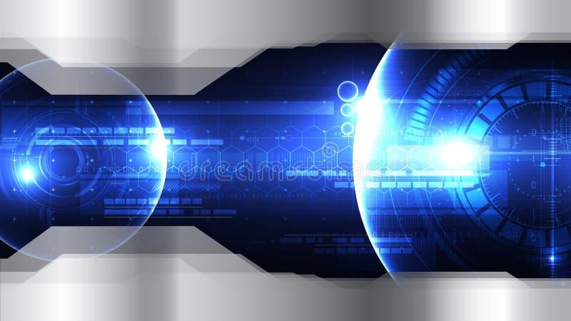 Τεχνολογικό διαστημικό head-up diplay διανυσματικό πρότυπο αβ υποβάθρου απεικόνιση αποθεμάτων